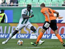 Aliou Badji war im Februar von Djurgårdens zu Rapid gewechselt