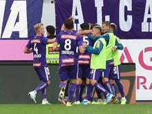 Aufatmen bei Austria nach dem 2:0 gegen Altach