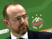 Rapids Neo-Präsident Bruckner freut sich auf das Wiener Derby zum Einstand