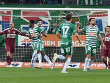 Rapid feierte einen verdienten Heimsieg gegen Mattersburg