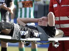 Goiginger musste schon kurz nach Spielbeginn verletzt raus