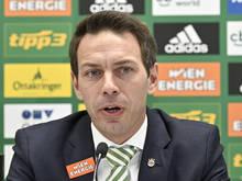 Rapids Wirtschafts-Geschäftsführer Christoph Peschek bezifferte bereits den möglichen Verlust