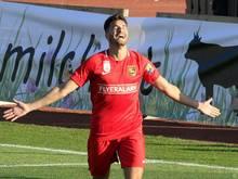 Sinan Bakış fixierte den 2:1-Sieg der Admira gegen Mattersburg