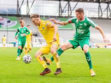 """Wimmer (l.) erzielte Siegestor für gelbe """"Veilchen"""""""