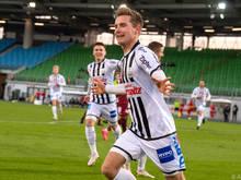 Johannes Eggestein wurde mit zwei Toren zum Matchwinner für die Linzer