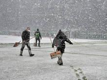 Schneefall machte Austragung von Rapid - St. Pölten unmöglich