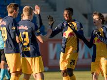 Salzburg jubelt im neuen Jahr auch über eine stabilere Defensive