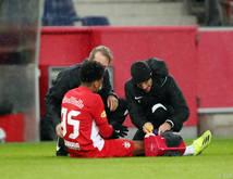 Bernardo musste gegen Ried verletzt ausgetauscht werden