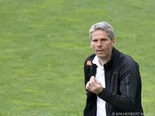 Dietmar Kühbauer war nach der Rapid-Niederlage über den Schiedsrichter verärgert