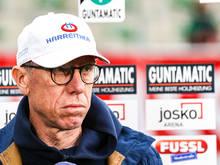 Enttäuscht über den finalen Einbruch seiner Elf: Austria-Coach Peter Stöger