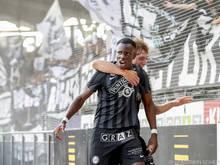 Kelvin Yeboah jubelte über den Sieg seiner Mannschaft