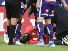 Schmerzvolles Aus für Ganda im Spiel bei der Austria