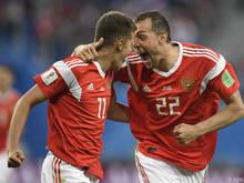 Russland jubelt über den zweiten Sieg im zweiten Spiel
