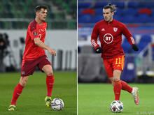 Granit Xhaka (l.) trifft mit der Schweiz auf Wales-Kapitän Gareth Bale
