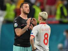 Marko Arnautović und Ezgjan Alioski hatten nach dem Spiel einiges zu besprechen