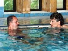 Herbert Prohaska und Toni Polster hoffen, dass das Team gegen Italien nicht baden geht
