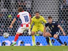 Luka Modrić brachte Kroatien gegen Schottland in Führung