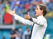 Roberto Mancini ist mit seinem Team der klare Favorit