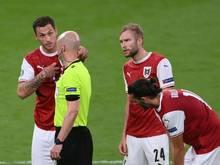 Das vermeintliche 1:0 durch Marko Arnautović wurde wegen Abseits aberkannt