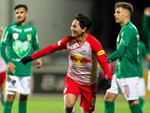Salzburg gewann bei Zweitligist Austria Lustenau 1:0 (0:0)