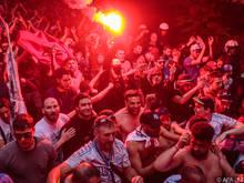 Marseille-Fans zogen durch Salzburg