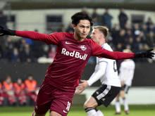 Salzburg-Offensivmann Takumi Minamino überzeugte beim Spiel gegen Rosenborg Trondheim