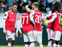 Strahlende Gesichter gab es in Frankfurt nur bei Arsenal