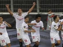 Riesenjubel bei Sevilla nach dem 3:2