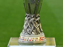 Die Trophäe für den Europa-League-Sieger