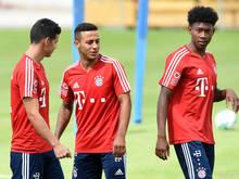Die Bayern hoffen auf einen Einsatz von David Alaba (rechts)