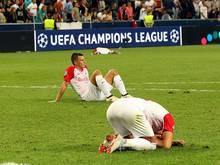 Salzburg-Spieler am Boden zerstört