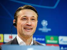 Bayern-Trainer Niko Kovač macht gute Miene zum bösen Spiel