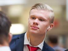 Erling Håland soll bei Salzburg zumindest von der Bank kommen