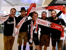 Salzburger Fans freuen sich auf die Anfield Road