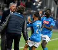 Lorenzo Insigne jubelte mit Trainer Carlo Ancelotti