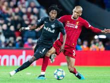 Salzburg liegt mit sieben Punkten hinter Titelverteidiger Liverpool