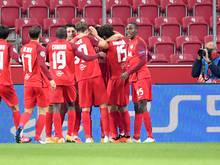 Die Salzburger jubeln über den Einzug in die Champions League-Gruppenphase