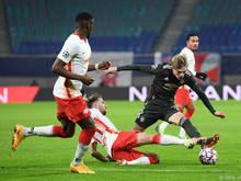DIe Leipziger setzten sich gegen Manchester United durch