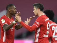 Alaba und Lewandowski bejubeln den Aufstieg ins Viertelfinale
