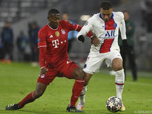Alaba hatte mit den Bayern gegen PSG das Nachsehen