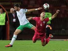 Nach dem 2:2-Heimremis gegen Irland sind die Serben nun gegen Moldau gefordert