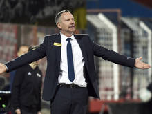ÖFB-Teamchef Dominik Thalhammer hat sich die Latte hoch gelegt