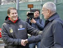 Teamchef Foda begrüßte Van der Bellen