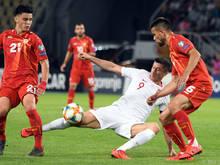Gegen Polen verlor Nordmazedonien knapp 0:1