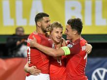 Die ÖFB-Teamkicker wollen auch gegen Slowenien etwas zu jubeln haben