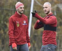 Florian Grillitsch mit Marko Arnautović