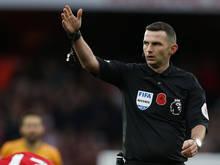 Michael Oliver ist einer von Englands Top-Referees