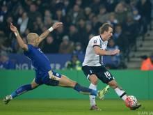 Tottenham setzte sich in Leicester durch
