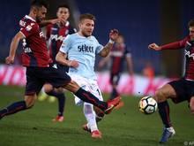 Ciro Immobile (M.) traf wieder einmal doppelt für Lazio Rom