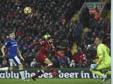 Mohamed Salah ist zum 50. Mal in der Liga für Liverpool am Start